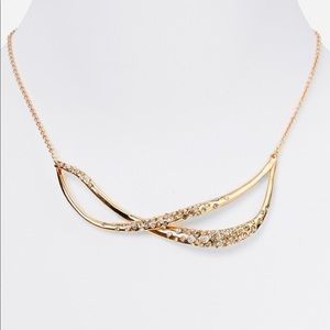Alexis Bittar Gold Crystal Encrust Twined Necklace